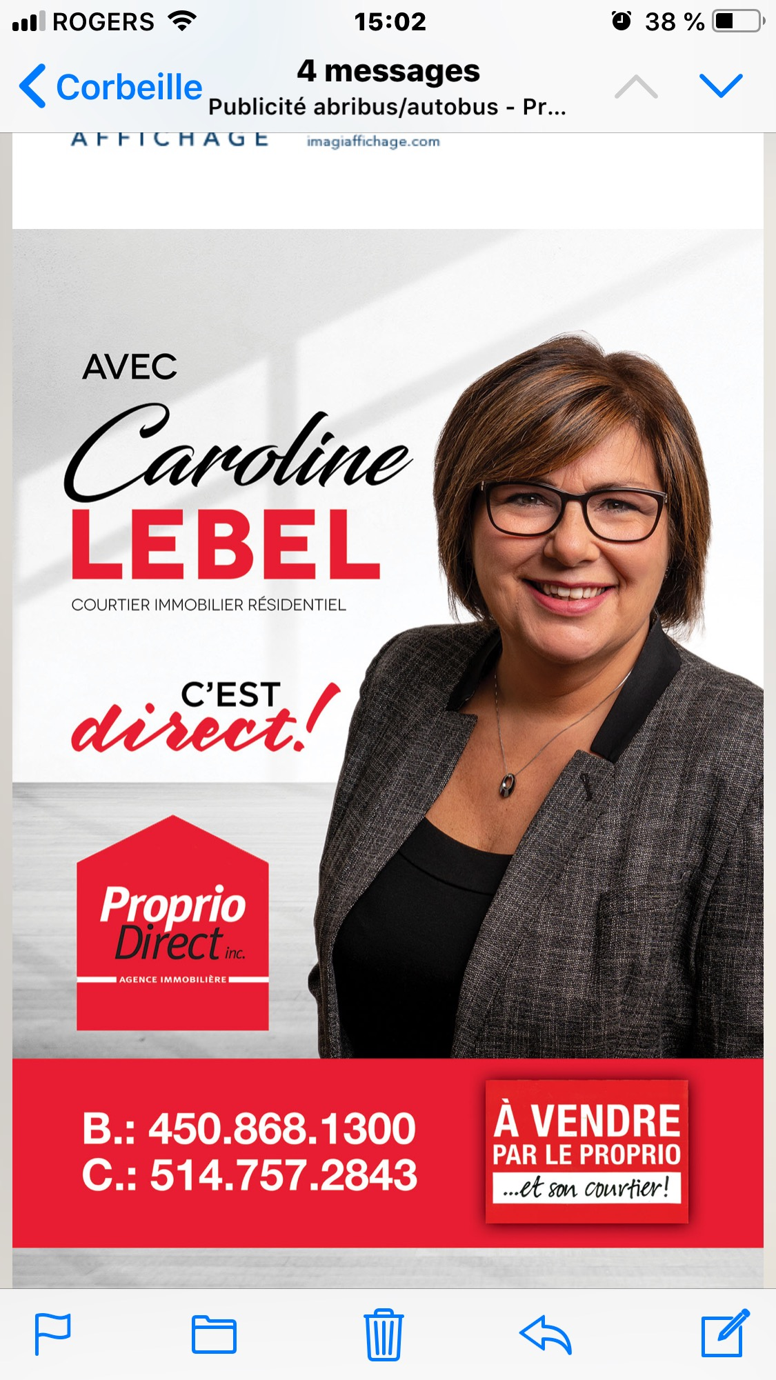 Logo Caroline Lebel Proprio Direct